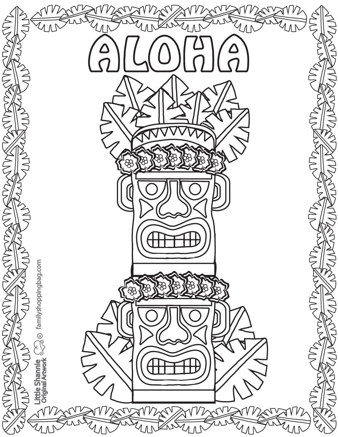 Coloring Page Luau