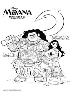 Coloring Page Moana