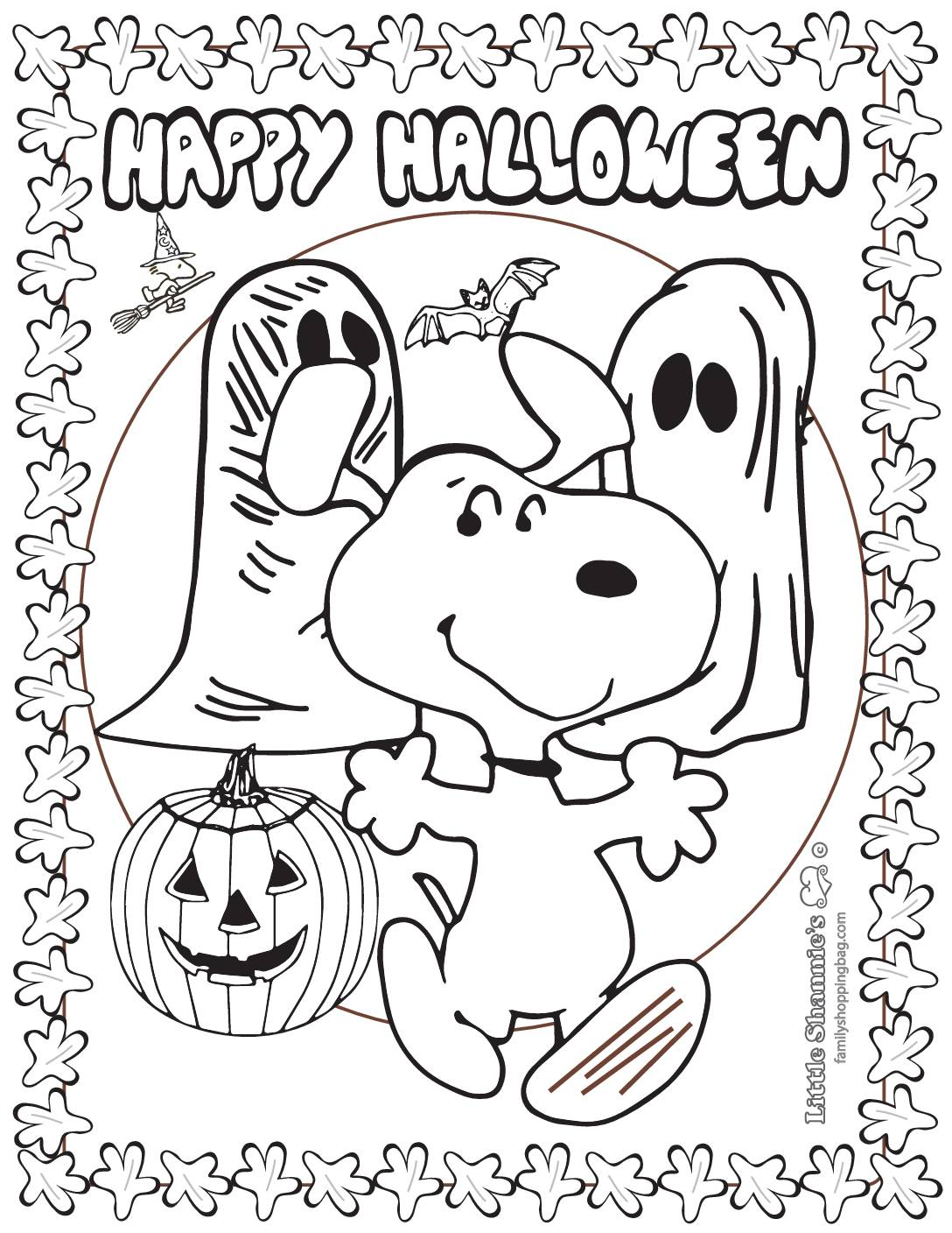 Coloring Page Peanuts Halloween