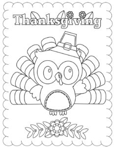Coloring Page Thanksgiving