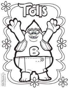 Coloring Page Trolls