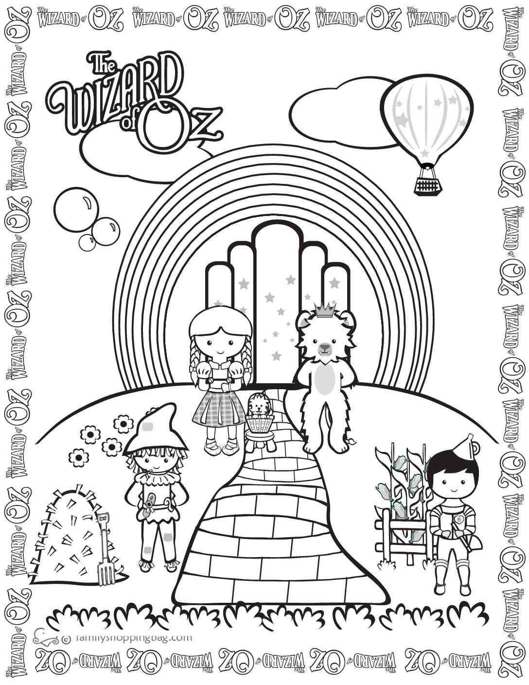 Coloring Page Wizard of Oz