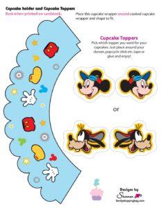 Mickey Mouse Cupcake Kit