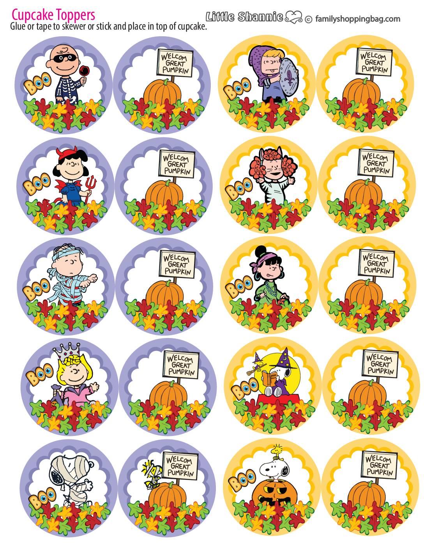 Cupcake Topper Peanuts Halloween
