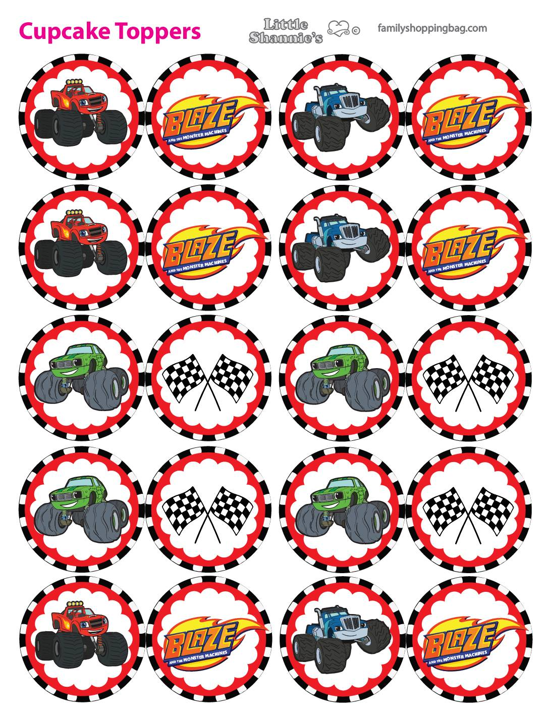 Cupcake Toppers Blaze