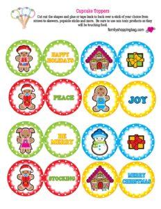 Cupcake Toppers Christmas
