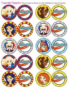 Cupcake Toppers DC Super Hero Girls