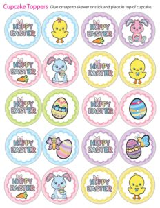 Cupcake Toppers Easter