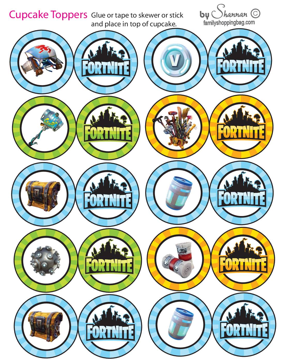Cupcake Toppers Fortnite