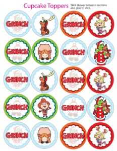 Cupcake Toppers Grinch