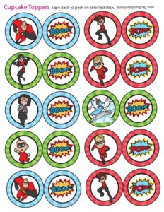 Cupcake Toppers Incredibles