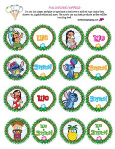Cupcake Toppers Lilo and Stitch
