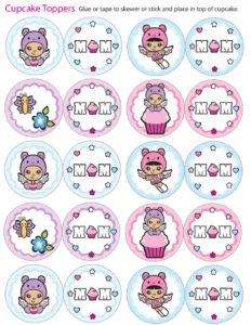 Cupcake Toppers Mothers Day