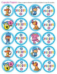 Cupcake Toppers Pocoyo