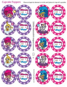 Cupcake Toppers Shimmer