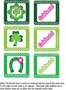 Cupcake Toppers St. Patricks Day printable
