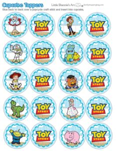 Cupcake Toppers Toy Story