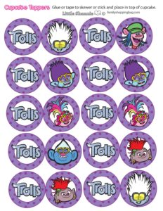 Cupcake Toppers Trolls