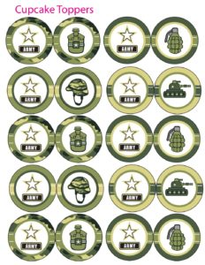 Cupcake Toppers army