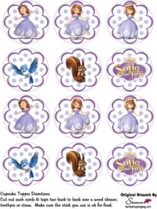 Sofia Cupcake Tops