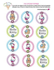 Hello Kitty Cupcake Tops