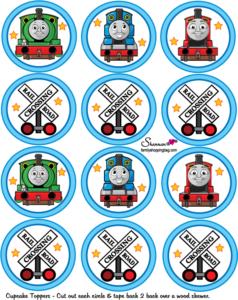 Thomas Cupcake Tops