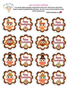 Cupcake Tops Thanksgiving