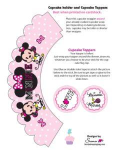 Minnie Cupcake Wrapper