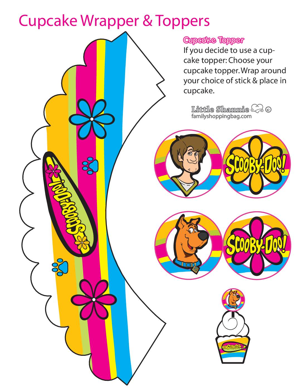Cupcake Wrapper Set Scooby Doo