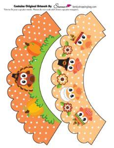 Cupcake Wrapper Thanksgiving