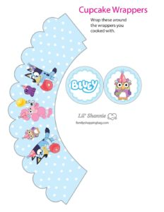 Cupcake Wrappers 2 Bluey