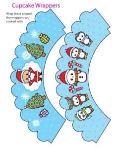 Cupcake Wrappers Christmas