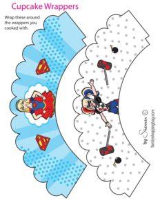 Cupcake Wrappers DC Super Hero Girls