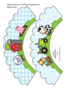 Cupcake Wrappers Farm