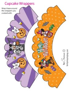 Cupcake Wrappers Mickey Halloween