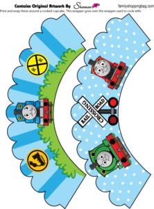 Thomas Tank Cupcake Wraps