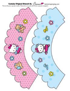 Hello Kitty Cupcake Wraps