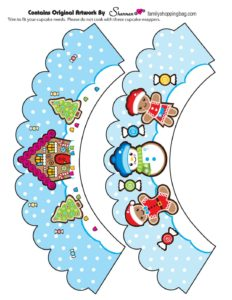 Cupcake Wrapper Christmas