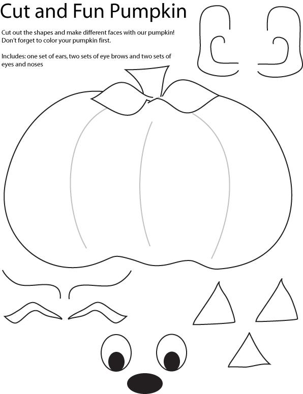 Cut and Create Pumpkin