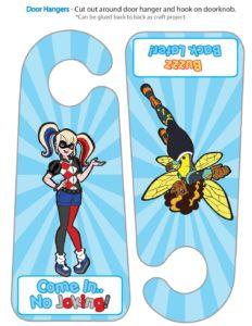 Door Hanger DC Super Stickers