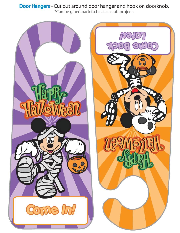 Door Hanger Halloween Mickey