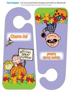 Door Hanger Peanuts Halloween