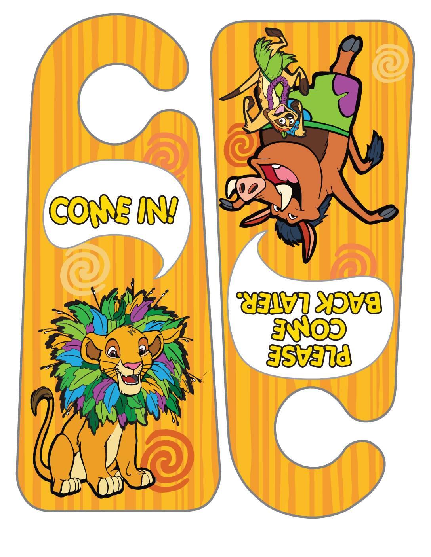 Door Hangers Lion King