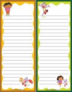 Dora Grocery List