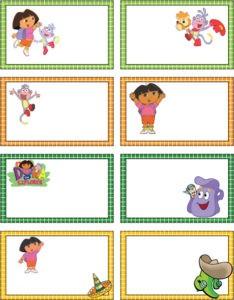 Dora the Explorer Gift Tags