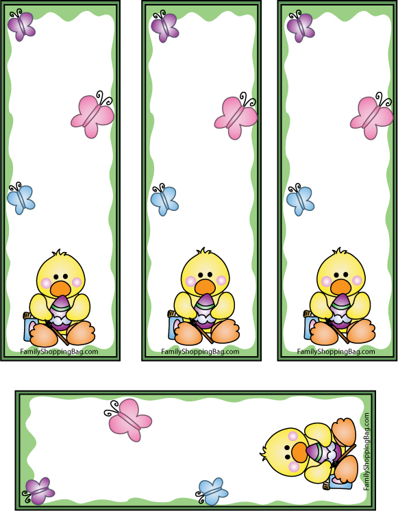 Easter Duck Bookmarks