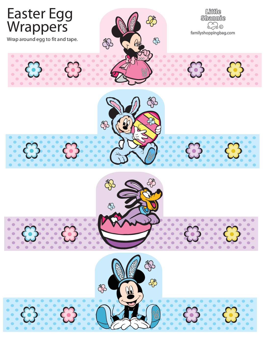 Egg Wraps Mickey Mouse Easter
