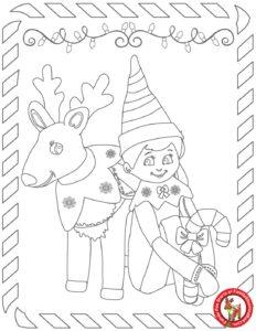 Elf coloring page 2