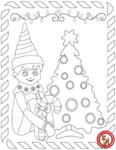Elf coloring page