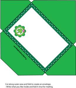 Envelope St. Patricks Day printable